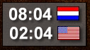 NL/US Clock