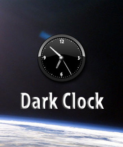 Dark Clock Widget