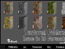 Textured Folders V1 Ico