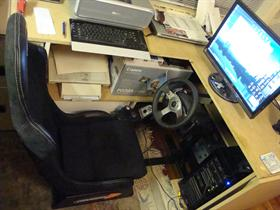 Driving seat and desk