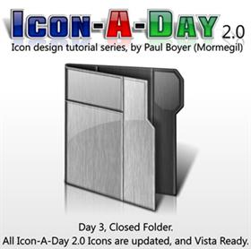 Icon-A-Day 2.0, Day 3, Closed Folder