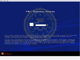 FBI Terminal Logon (widescreen)