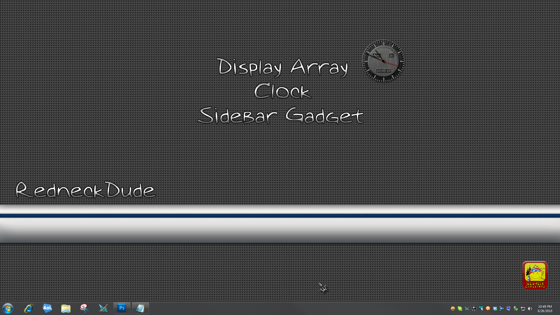 Display Array Sidebar Gadget Clock