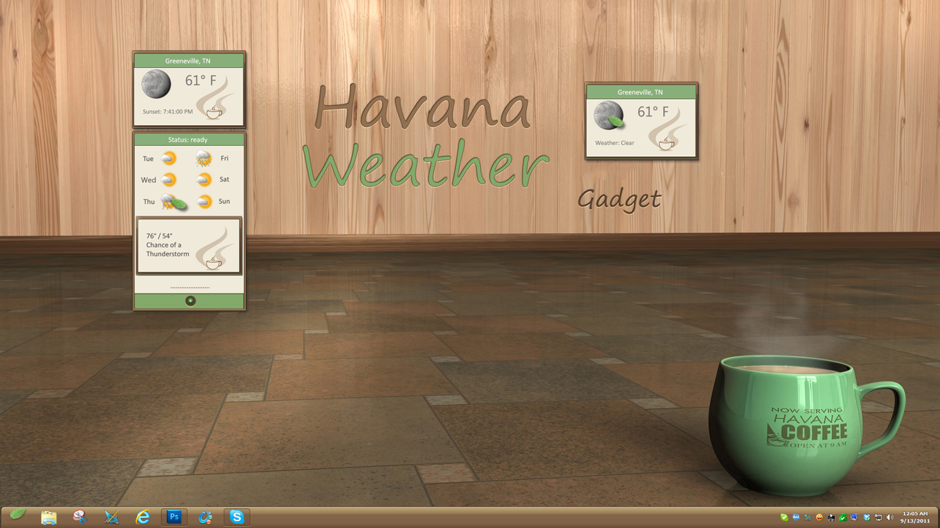Havana Weather Gadget