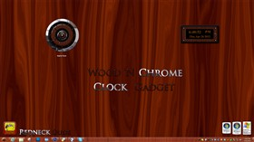 Wood 'N Chrome Clock Gadget