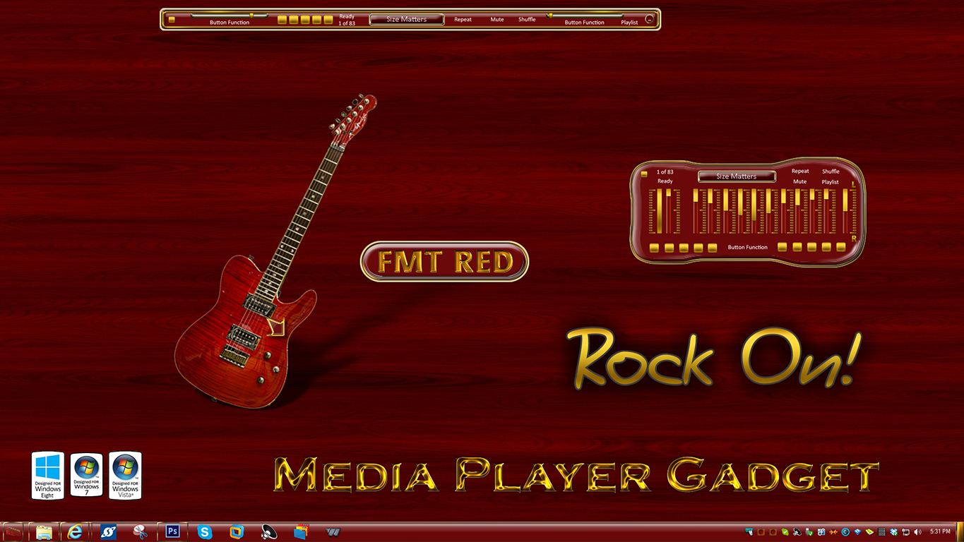 FMT Red Media Player Gadget
