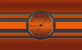 Burnt Orange Clock