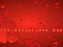Valentine Hearts text