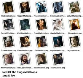 Lord Of The Rings Mail Icons