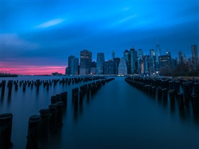 Manhattan Skyline at Sunset