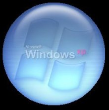 Blue Orb Button ( Center Logo )