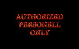 Authorized Personell Only